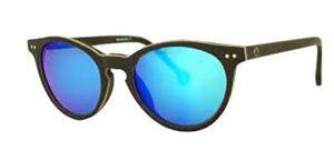 Monkeyglasses Berlin 45-3S Black - Solbrille Blå spejl