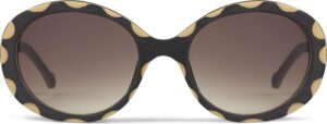 Monkeyglasses Betty 45S Sort - Solbrille Brun gradueret