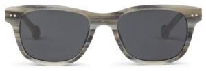Monkeyglasses Dex 01S Grey Horn  - Solbrille Grå