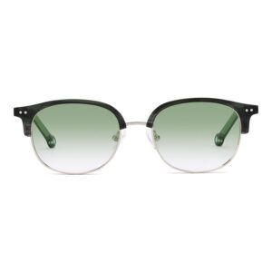 Monkeyglasses Norma 29S Green/Shiny Silver - Solbrille Grøn gradueret