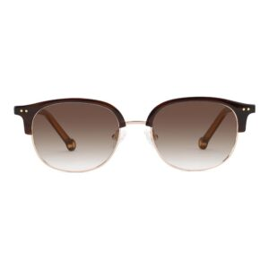 Monkeyglasses Norma 39S Brown/Shiny Gold - Solbrille Brun gradueret