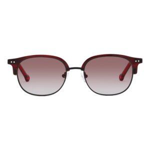 Monkeyglasses Norma 69S Red/Mat Black - Solbrille Rød gradueret