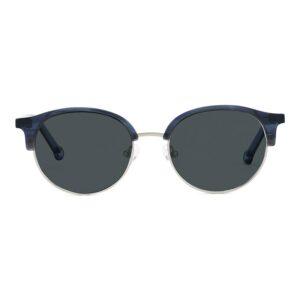 Monkeyglasses Nyborg 19S Blue / Mat Silver - Solbrille Blå gradueret