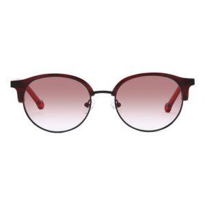 Monkeyglasses Nyborg 69S Red/Mat Black - Solbrille Rød gradueret
